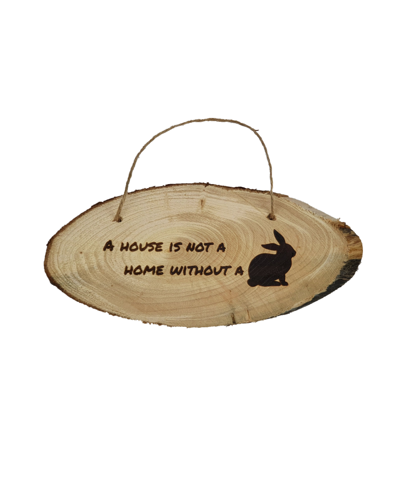 Housing  A House is not a Home without a Bunny - Wooden Plaque (9.99) 1